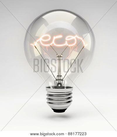 Concept Light Bulb - Eco