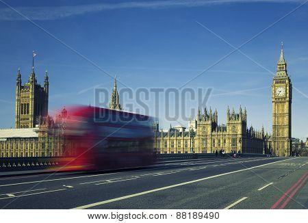 Ben And Bus Crossing The Bridge