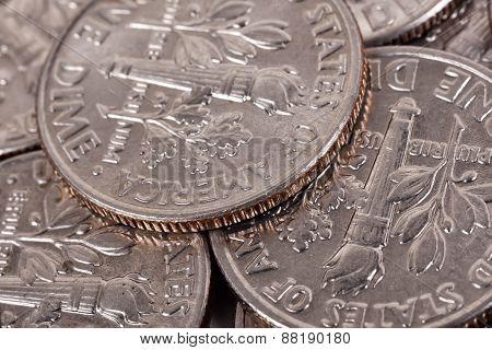 One Dime Coins