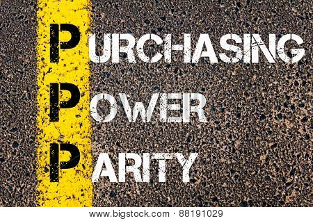 Business Acronym Ppp - Purchasing Power Parity