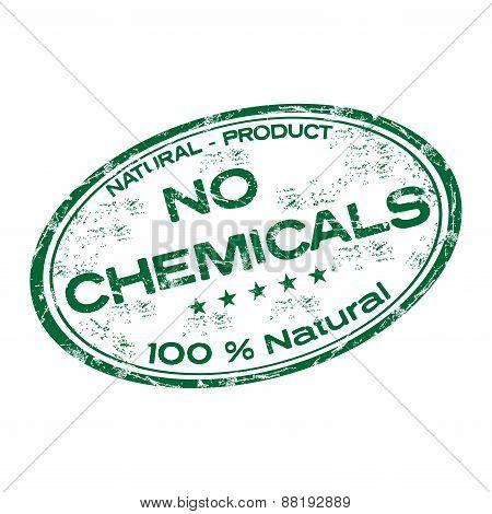 No chemicals grunge rubber stamp