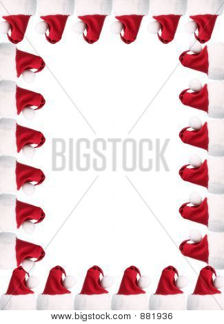 A4 Santa Hat Border With Clipping Paths