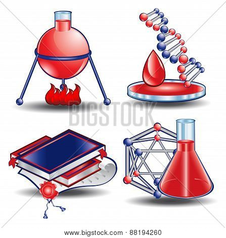 Web Icon Book Chemistry Blood