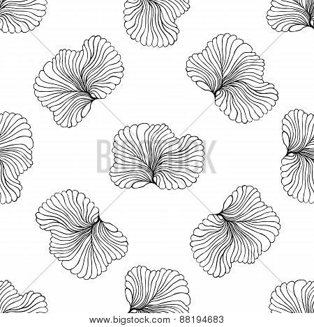 seamless monochrome pattern vector illustration