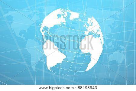 Planet Earth Informational Stream. Vector Illustration