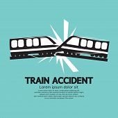 Train Accident Graphic Vector Illustration. EPS 10 poster