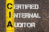 Business Acronym CIA as Certified Internal Auditor poster