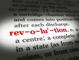 Dictionary Revolution Black On BG