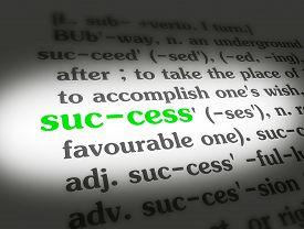 Dictionary Success Black On BG