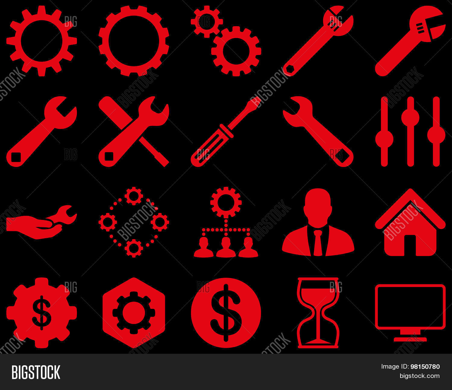 Settings Tools Icons Vector Photo Free Trial Bigstock