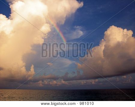Gorgeous Rainbow And Clouds