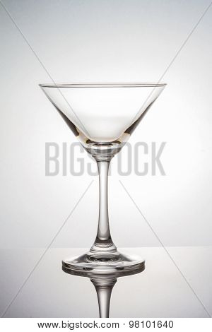 Empty Martini Glass With Clipping Path On White Background