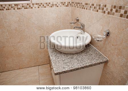 Round Basin On Granite Top