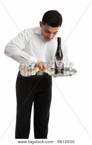 Waiter Or Bartender At Work