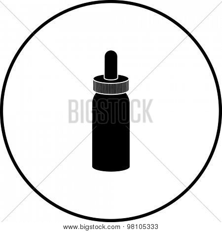 bottle with dropper cap symbol