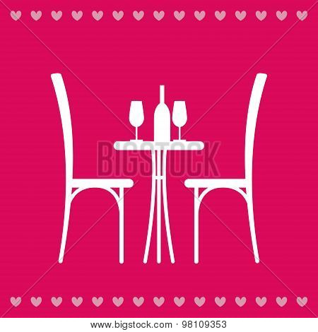 Table In The Restaurant For Two