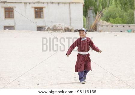 Tibetan Boys Involved In Sports.  Druk White Lotus School. Ladakh, India