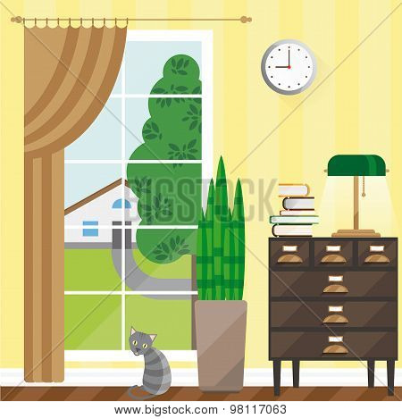 Vector illustration of a room