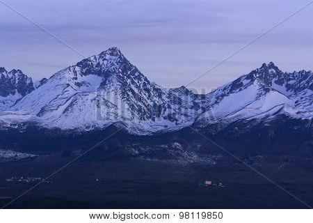 Gerlachovsky Stit of night panorama