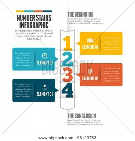 Number Stairs Infographic