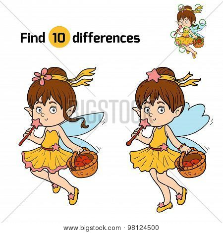 Find Differences (little Fairy With A Basket Of Fruit)