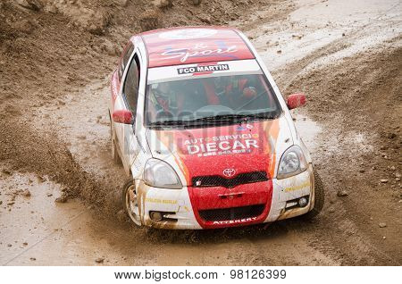 Toyota Yaris rally car.