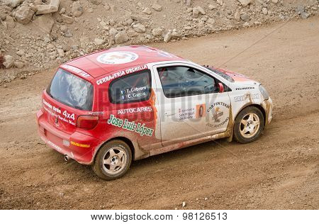 Toyota Yaris rally car.