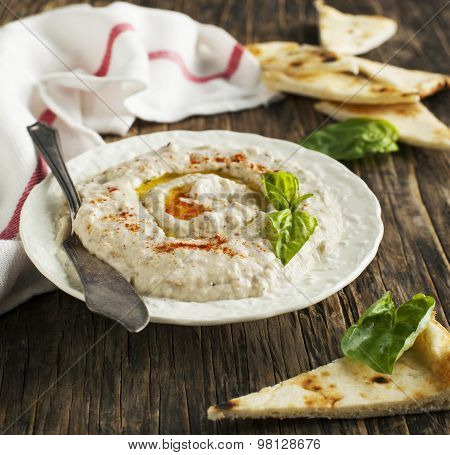 Eggplant Dip Baba Ganoush With Smoked Paprika.