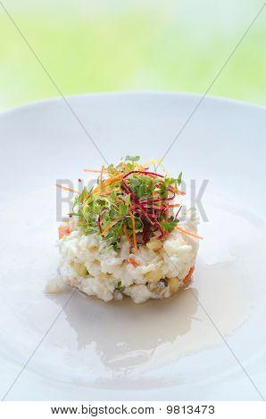 Albumen egg scramble