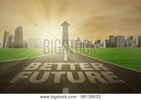 Roadway Growing-upward To The Better Future