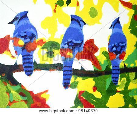Autumn Blue Jays