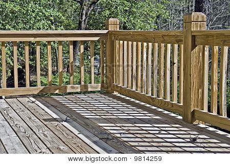 Corner Of A Wood Deck