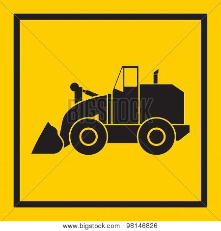 Tractor, Excavator, Bulldozer, Crawler, Wheeled And Continuous Track With Blade And Backhoe.