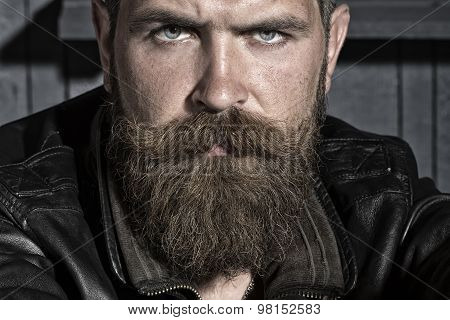 Portrait Of Unshaven Male