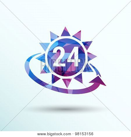 clock sun vector illustration day icon