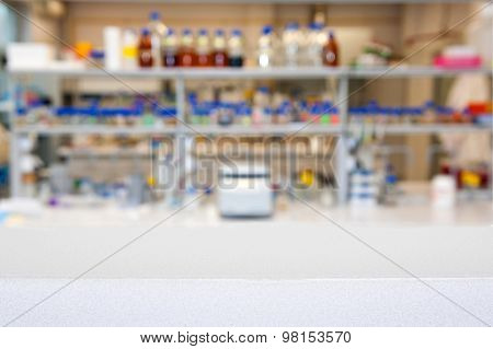 Empty Laboratory Top Or Bench