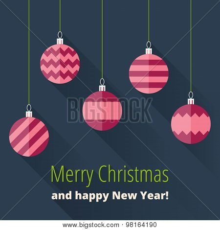 Christmas Card With Christmas Decoration