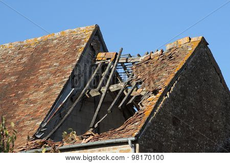 Damaged Tile Roof