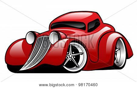 Red Hot Rod Custom Coupe