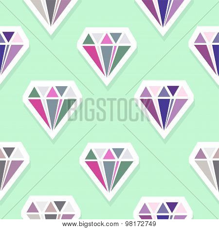 Vector Diamonds. Abstract Seamless Pattern