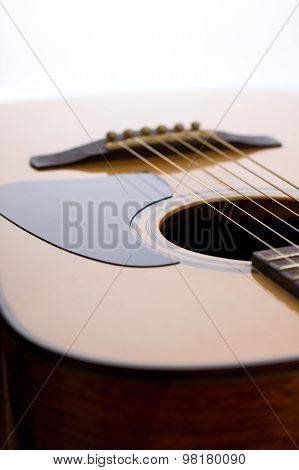 Front Side Of Acoustic Guitar With Pickguard