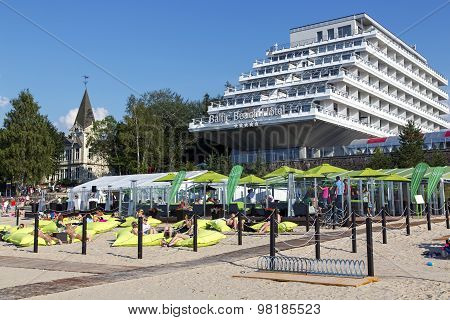 Baltic Beach Hotel ashore the Baltic sea