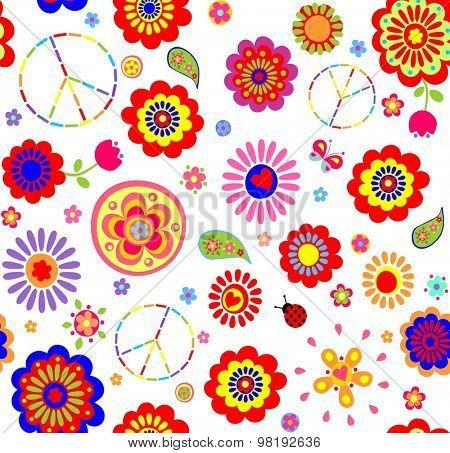 Hippie childish colorful wallpaper