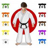 An Illustration Of Martial Art - KARATE Belt Rank System poster