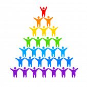 LGBT - a sign of gays and lesbians. The idea of a logo design for a gay pride parade, festival of free love or union protection of the rights of homosexuals. poster