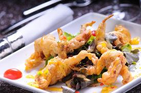 Soft-shell crab salad