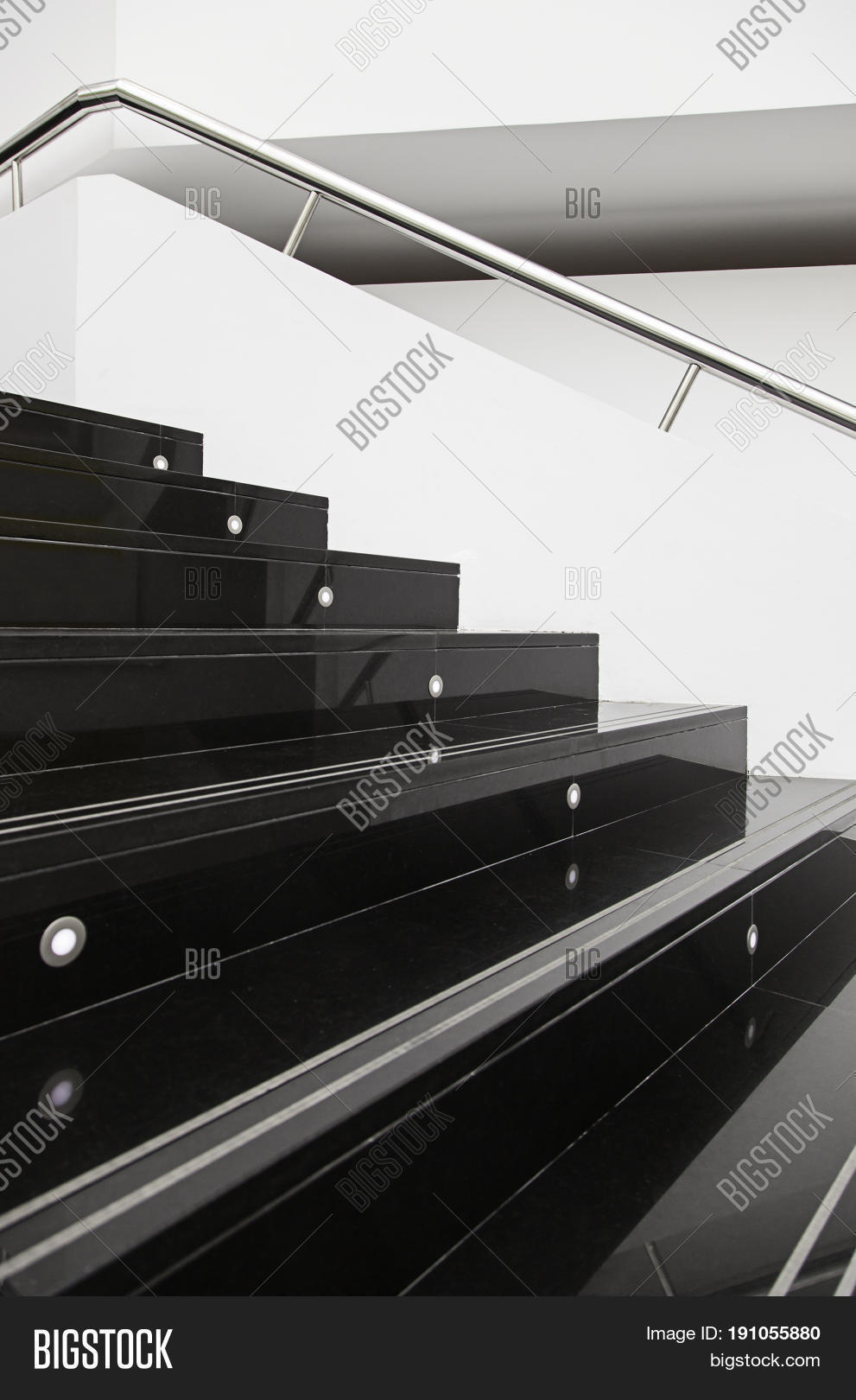 Stairs Marble Black Image Photo Free Trial Bigstock
