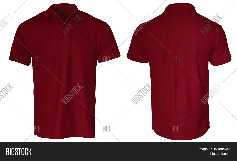 Blank polo shirt mock template image photo bigstock for Plain t shirt template