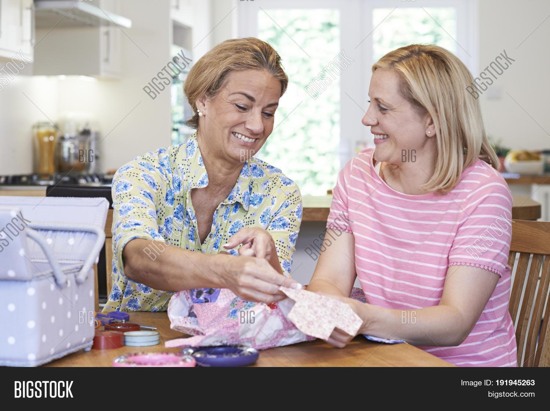 Mature women at home