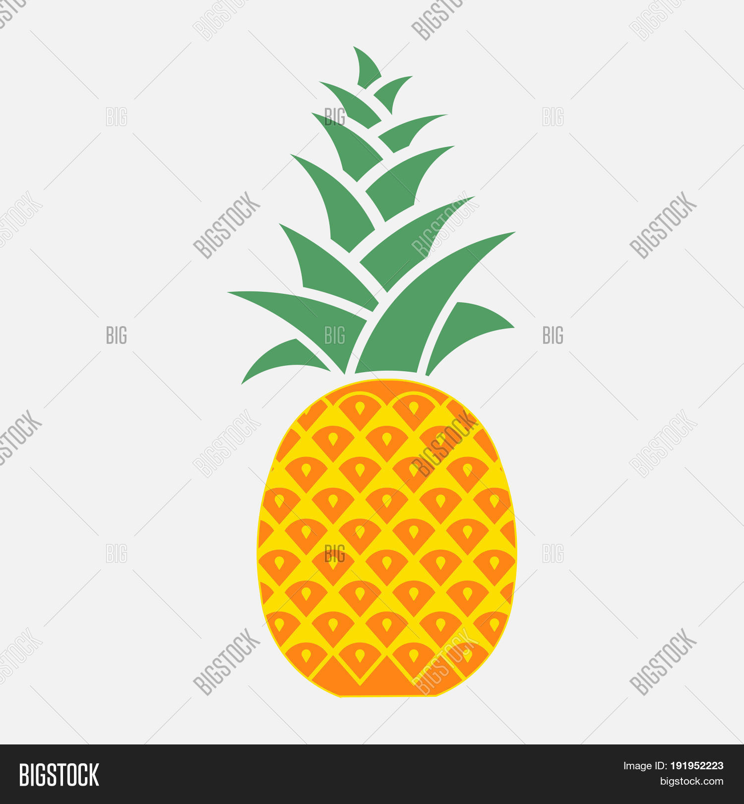 Icon Pineapple Symbol Image Photo Free Trial Bigstock